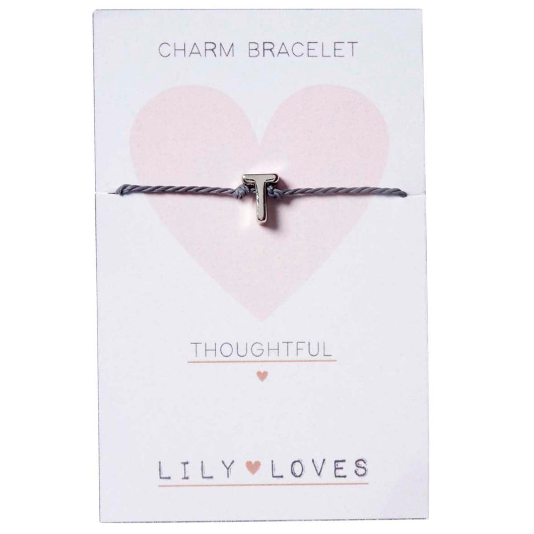 T for Thoughtful - Charm Bracelet