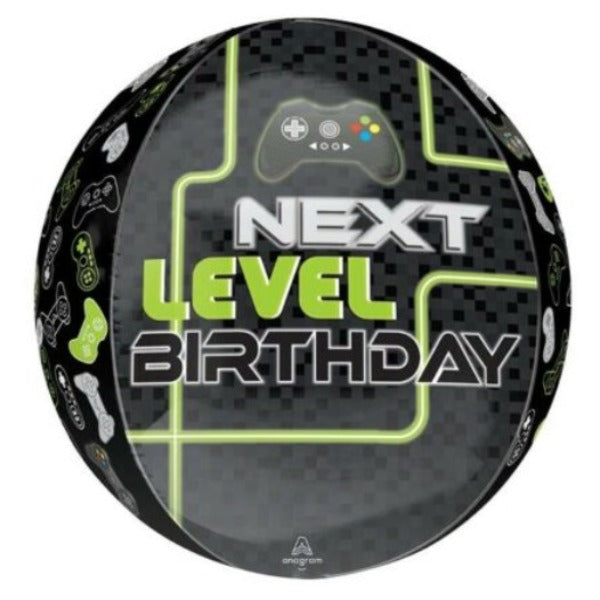 Next Level Orb Gaming Birthday Balloon 15 Inch