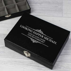Personalised Cufflink Compartment Box