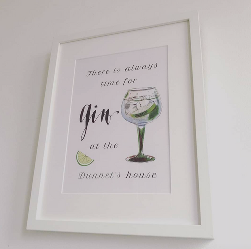 Personalised Home Gift Framed Prints