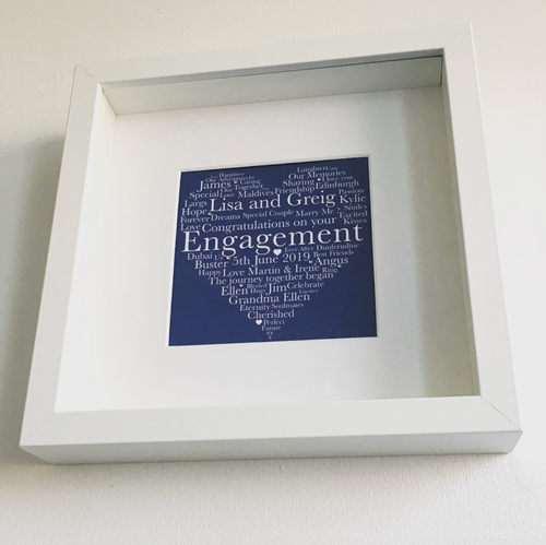 Personalised Engagement Framed Prints