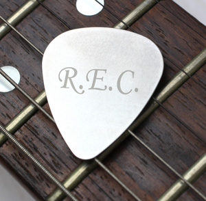 Personalised Initials Silver Plectrum