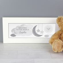Personalised New Baby Moon and Stars Name Frame