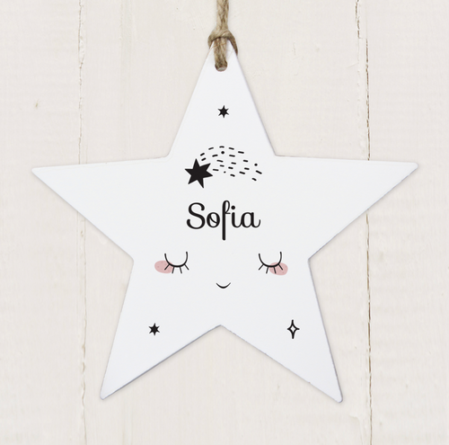 Personalised Baby Wooden Star