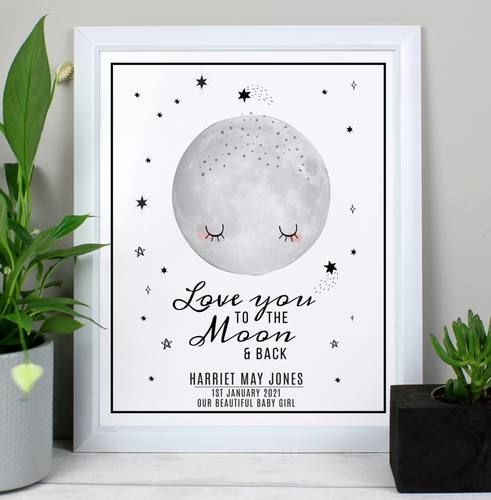Personalised Baby Moon Print