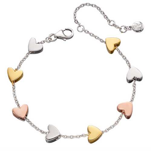 Three Coloured Heart Bracelet