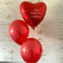 Heart Foil & Two Latex Balloons