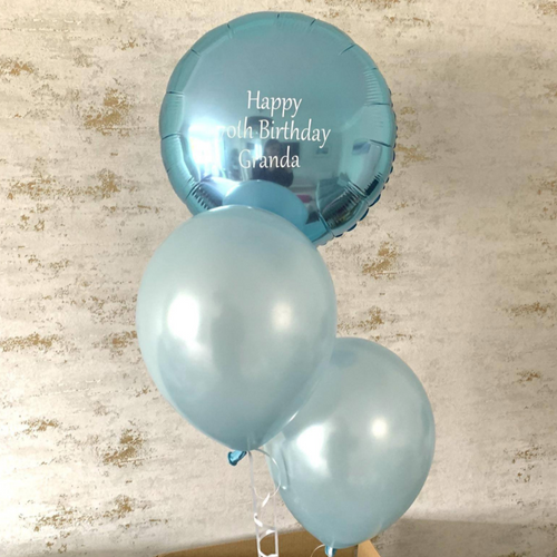 Round Foil & Two Latex Balloons