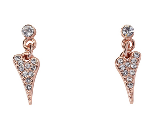 Miss Dee Rose Gold Plated Crystal Earrings