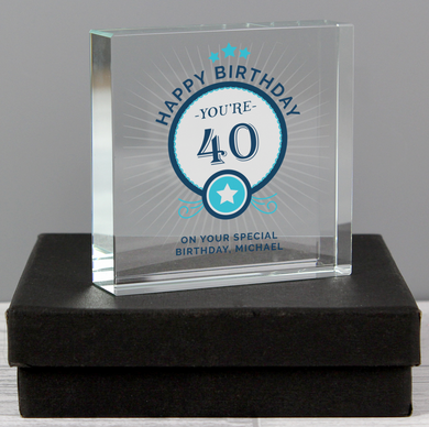 Personalised Birthday Large Crystal Token