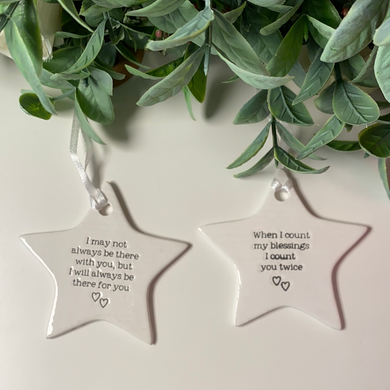 Sentimental Ceramic Hanging Star