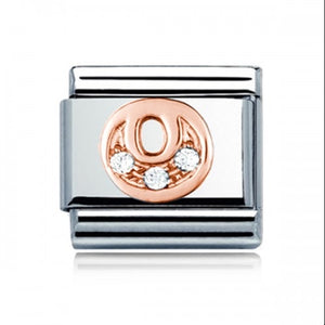Charmlinks Letter O Rose Gold Silver