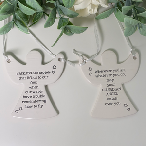 Ceramic Angel Hanger (2 Quotes)