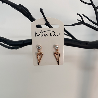 Miss Dee Open Heart Drop Earrings