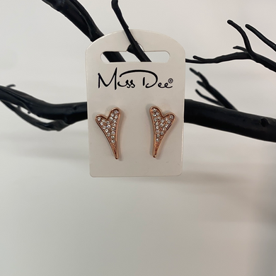 Miss Dee Rose Gold Crystal Stud Earrings