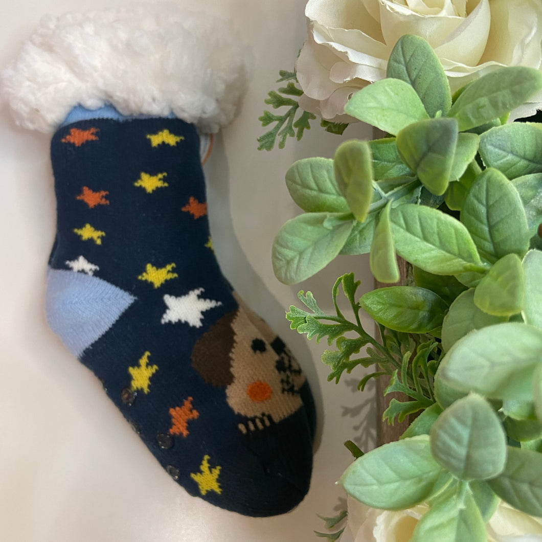 Kids Navy Star Socks