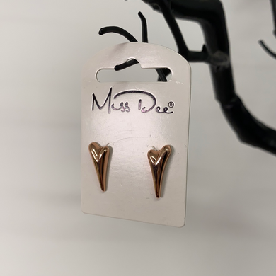 Miss Dee Rose Gold Plain Earrings