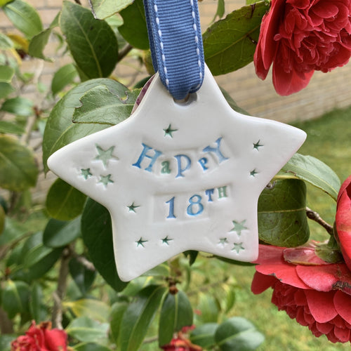 Special Birthday Ceramic Star (Various Ages)
