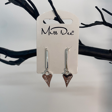 Miss Dee Long Dangle Silver Earrings