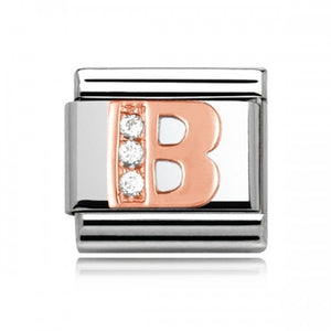 Charmlinks Letter B Rose Gold Silver