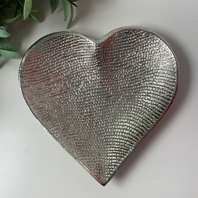 Silver Large Heart Dish