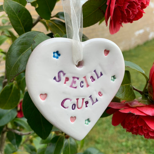 Special Couple Ceramic Hanging Heart