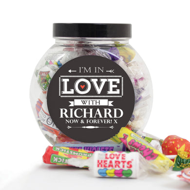 I'm in love... Personalised Sweet Jar