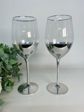 Silver Wine Glasses (set 2)