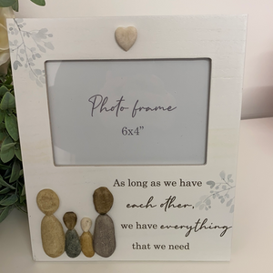Family Pebble Photo Frame (2 Assorted)