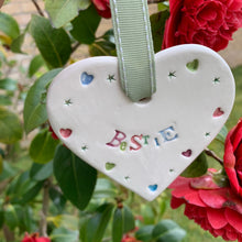 Bestie Ceramic Hanging Heart