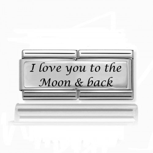 I Love You to the Moon & Back Silver Super Charm