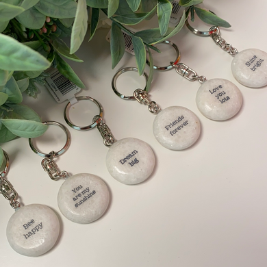Double Sided Marble Keyring (6 Designs)
