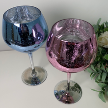 Glitter Pink and Blue Gin Glasses (Set of 2)