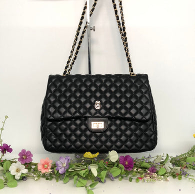 Palermo Large Black Padded Handbag