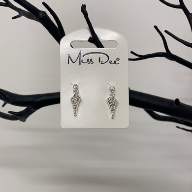 Miss Dee Silver Small Dangle Earring