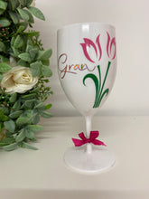 Personalised Tulip White Wine Glass