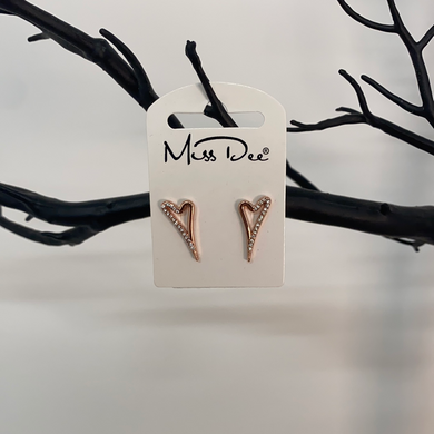 Miss Dee Rose Gold Stud Earrings