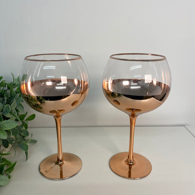 Rose Gold Gin Glasses (set 2)