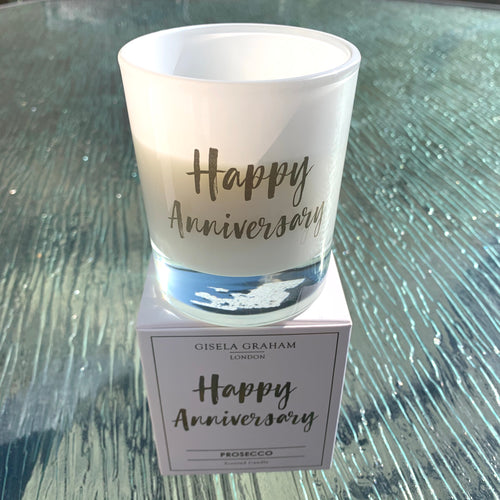 Happy Anniversary Prosecco Scented Boxed Candle