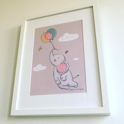 Personalised New Born Framed Prints
