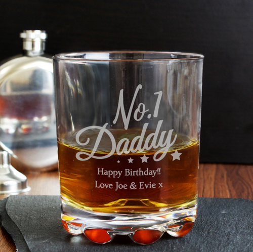 No1 Daddy Whisky Glass