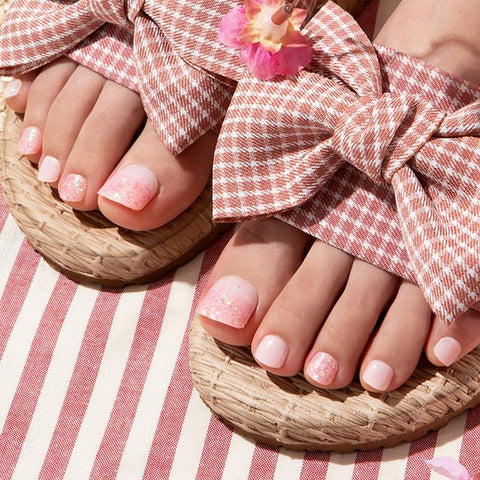 [Press on Pedicure] Pink Blossom