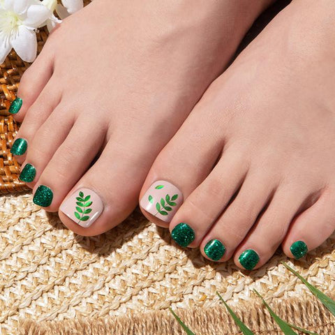 [Press on Pedicure] Twinkle Forest