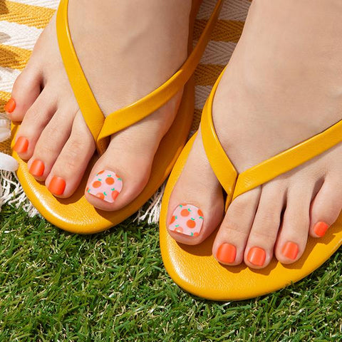 [Press on Pedicure] Sparkling Orange