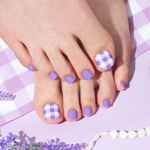 [Press on Pedicure] Lavender Picnic