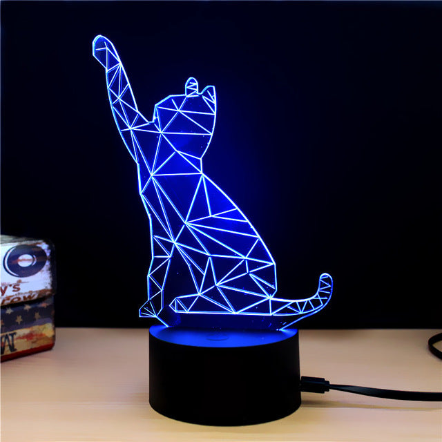 NEW Animal Kawaii Unicorn 3D LED Lamp Night Light Multicolor RGB Bulb Christmas Decorative Gift Cartoon Toys