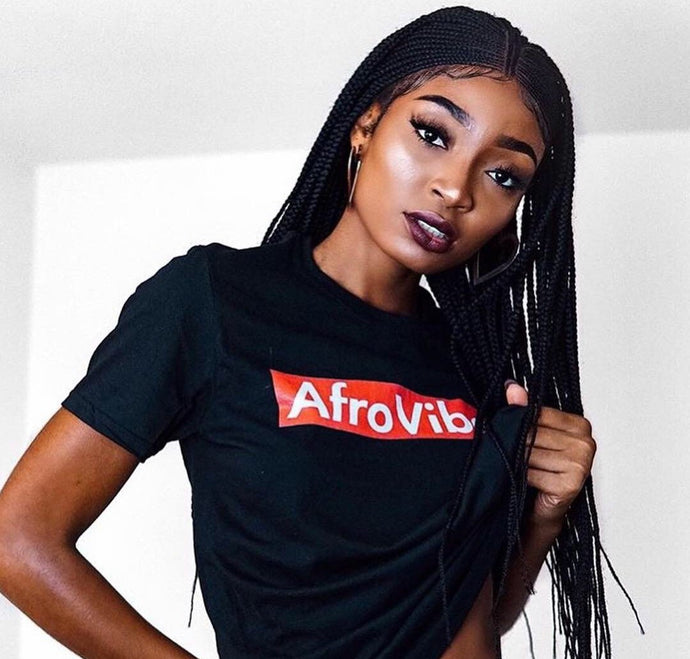 AfroVibes Black + Red Short-Sleeve Tee