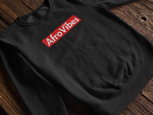 Load image into Gallery viewer, AfroVibes Red Long-Sleeve Sweater