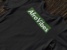 Load image into Gallery viewer, AfroVibes Black + Green Short-Sleeve Tee