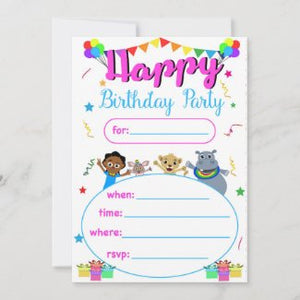 Akili and Friends Birthday Card (available on our Zazzle.com shop)